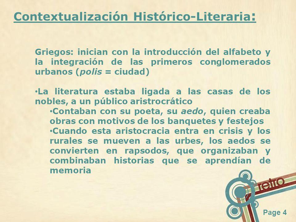 Contextualización Histórico-Literaria: