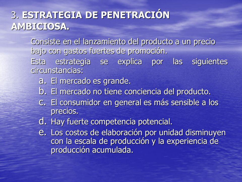 3. ESTRATEGIA DE PENETRACIÓN AMBICIOSA.