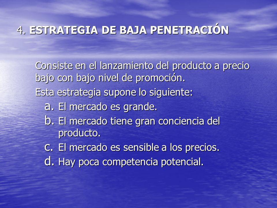 4. ESTRATEGIA DE BAJA PENETRACIÓN