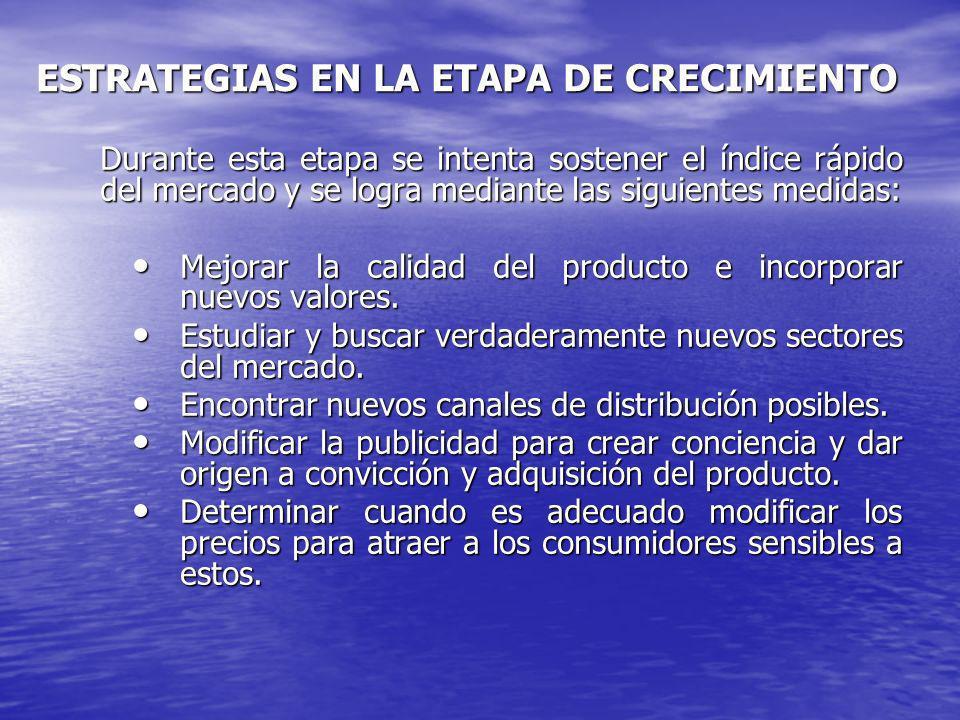 ESTRATEGIAS EN LA ETAPA DE CRECIMIENTO
