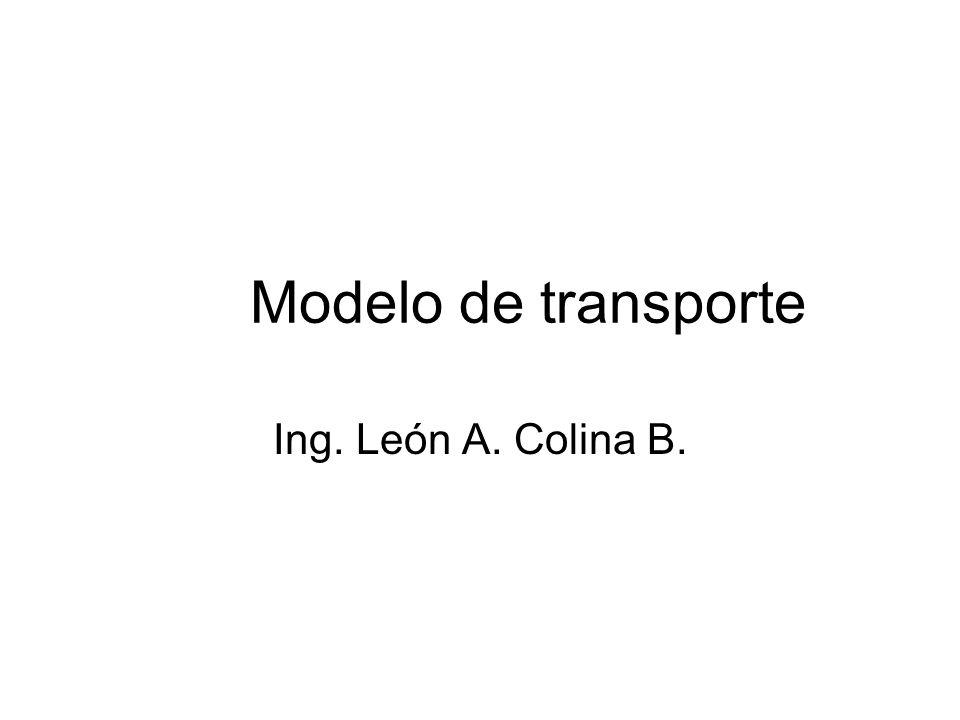 Modelo de transporte Ing. León A. Colina B.