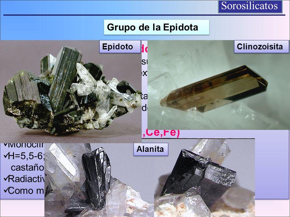 Sorosilicatos Allanita (Ca,Ce,Fe) Grupo de la Epidota