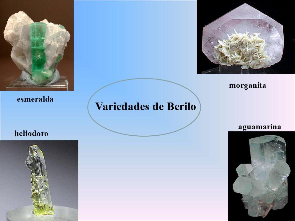 Variedades de Berilo morganita esmeralda aguamarina heliodoro