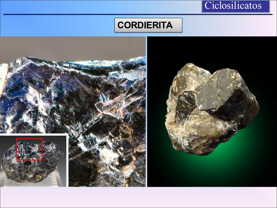 Ciclosilicatos CORDIERITA