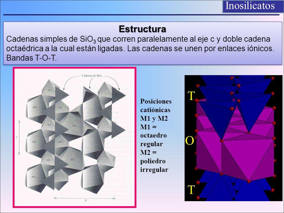 T O T Inosilicatos Estructura