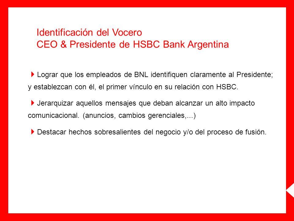Identificación del Vocero CEO & Presidente de HSBC Bank Argentina