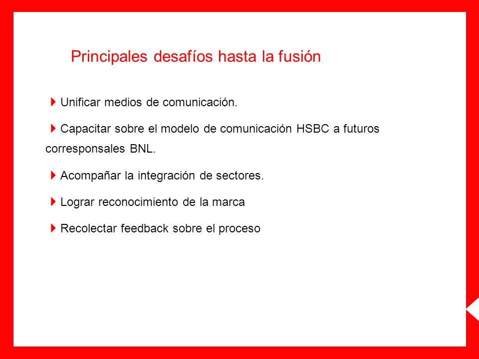 Principales desafíos hasta la fusión