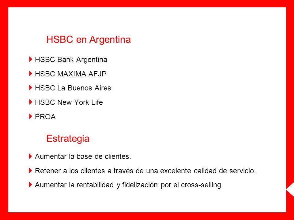HSBC en Argentina Estrategia HSBC Bank Argentina HSBC MAXIMA AFJP