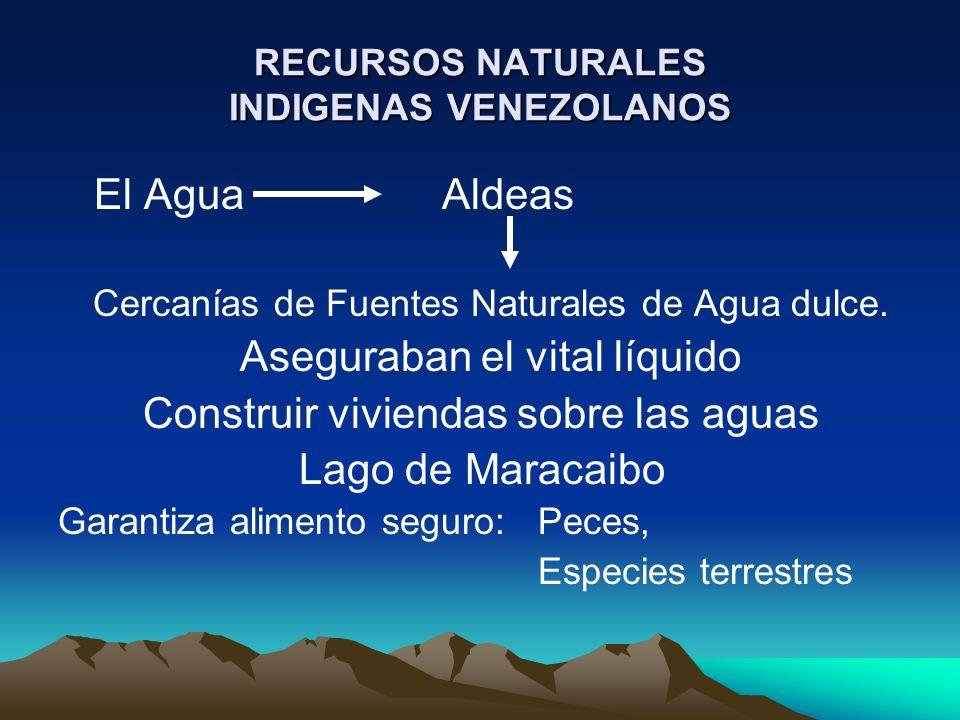 RECURSOS NATURALES INDIGENAS VENEZOLANOS