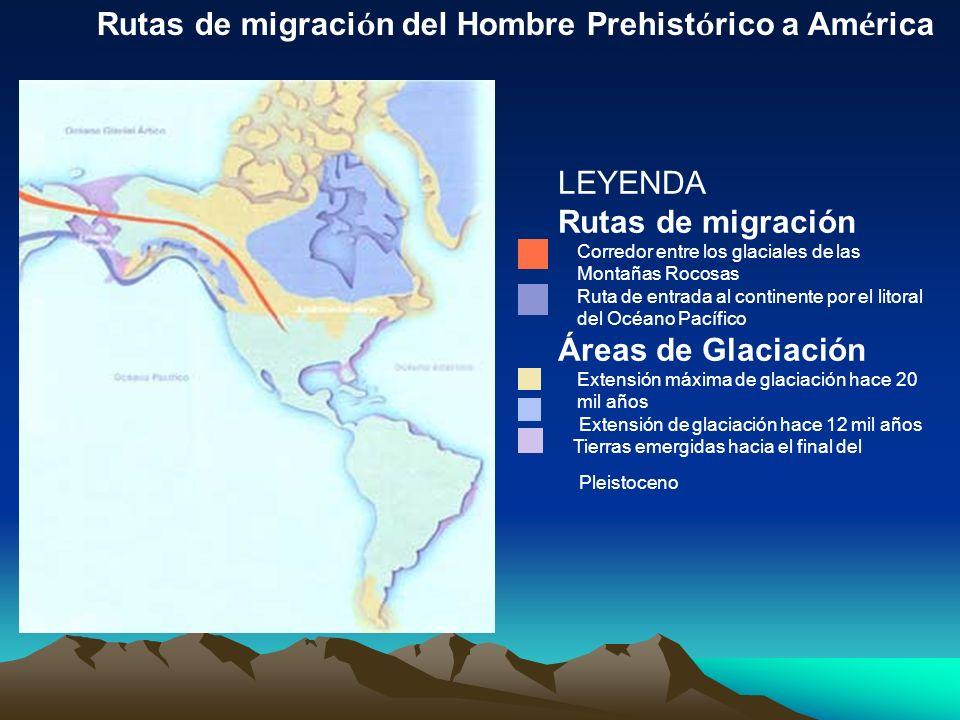 Rutas de migración del Hombre Prehistórico a América