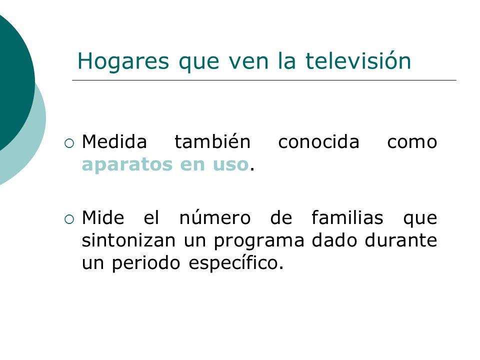Hogares que ven la televisión