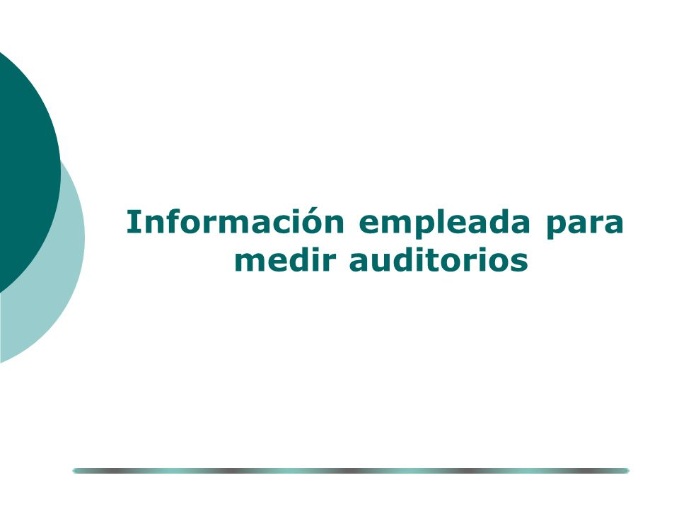Información empleada para