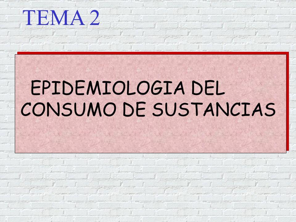 TEMA 2 EPIDEMIOLOGIA DEL CONSUMO DE SUSTANCIAS