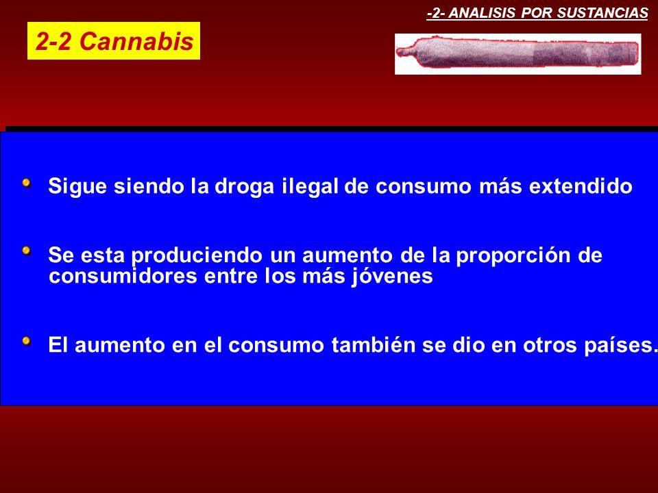 2-2 Cannabis consumidores entre los más jóvenes