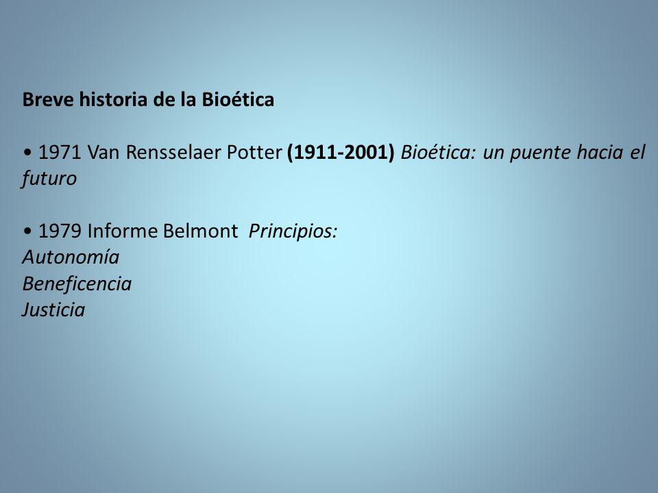 Breve historia de la Bioética