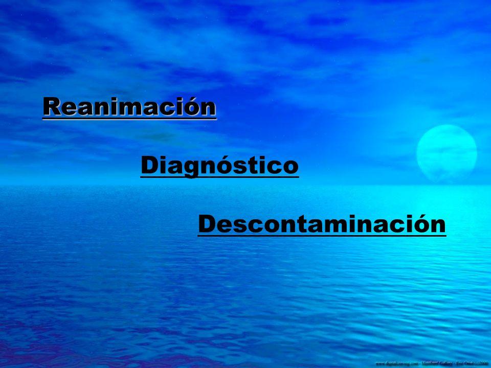 Reanimación Diagnóstico Descontaminación