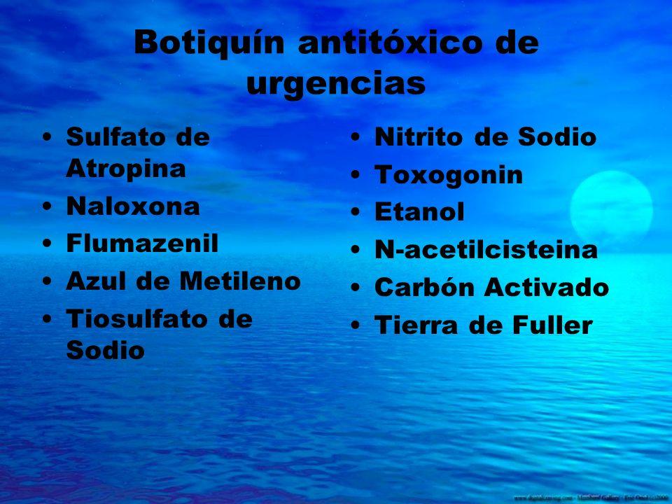 Botiquín antitóxico de urgencias