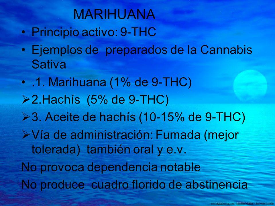 MARIHUANA Principio activo: 9-THC