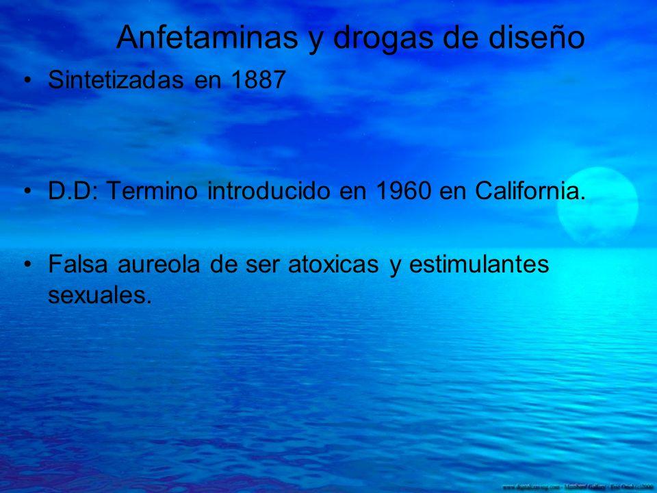 Anfetaminas y drogas de diseño