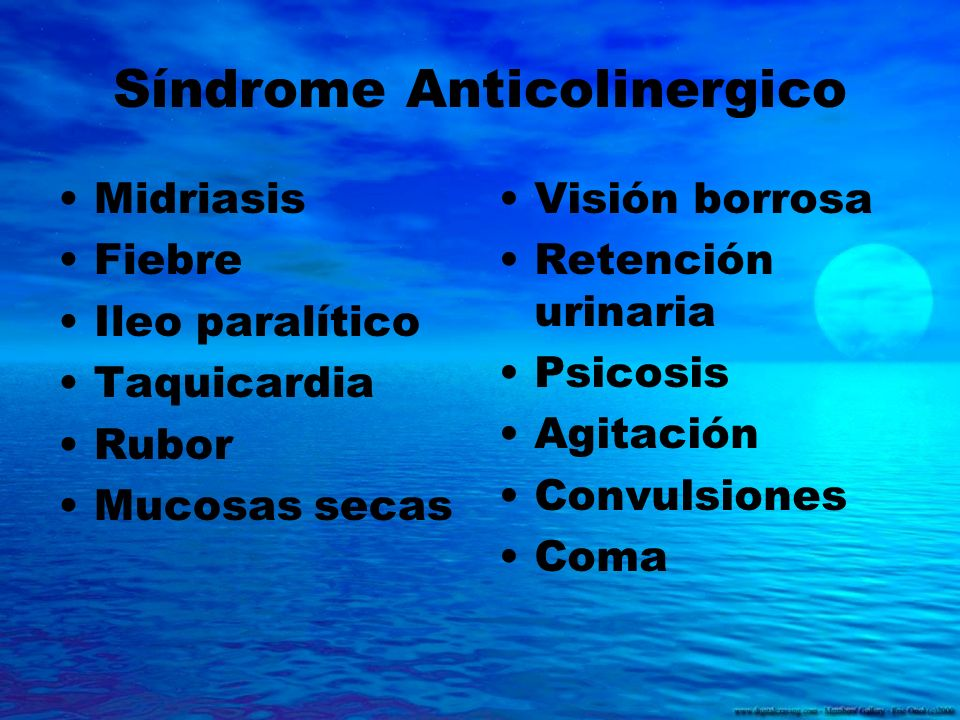 Síndrome Anticolinergico