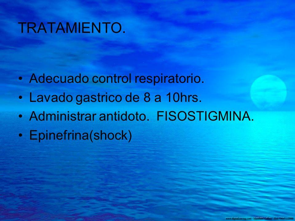 TRATAMIENTO. Adecuado control respiratorio.