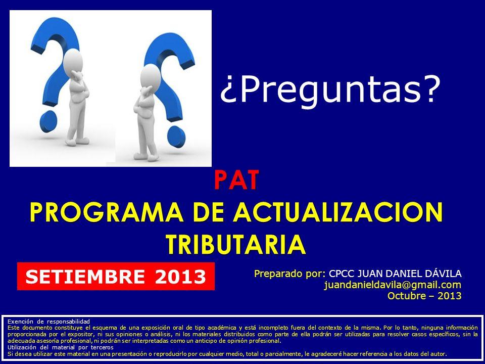 PROGRAMA DE ACTUALIZACION