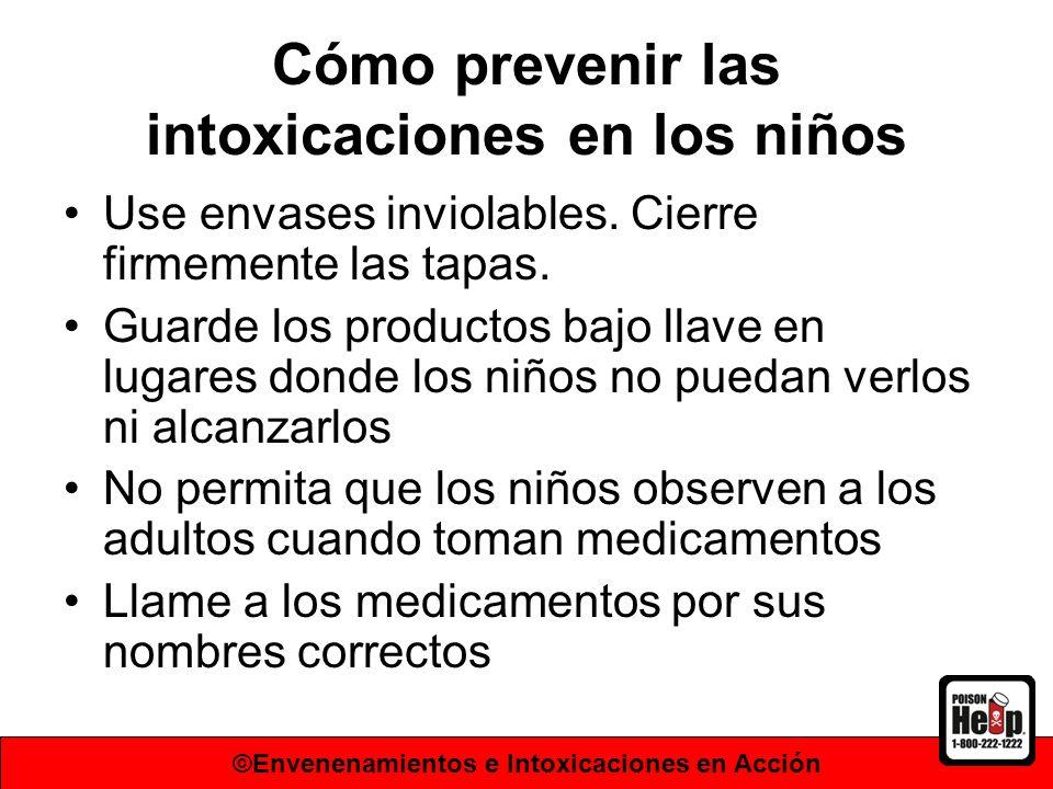 Cómo prevenir las intoxicaciones en los niños