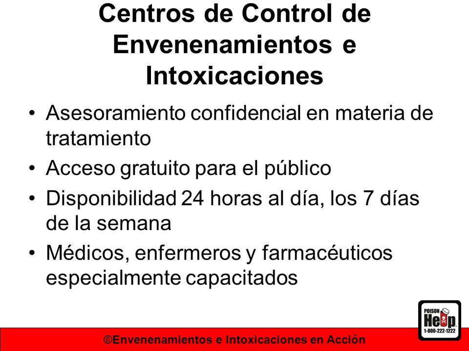 Centros de Control de Envenenamientos e Intoxicaciones