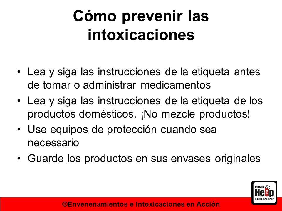 Cómo prevenir las intoxicaciones