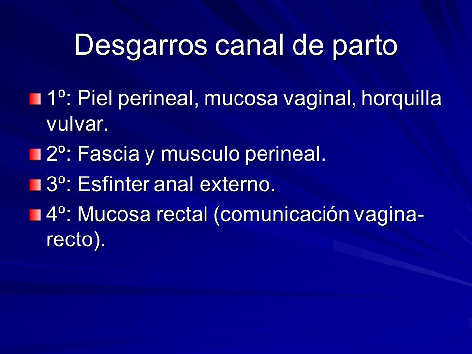 Desgarros canal de parto