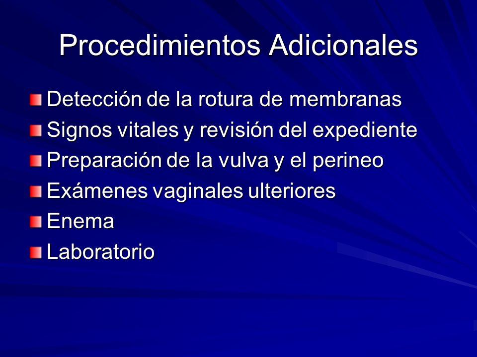 Procedimientos Adicionales