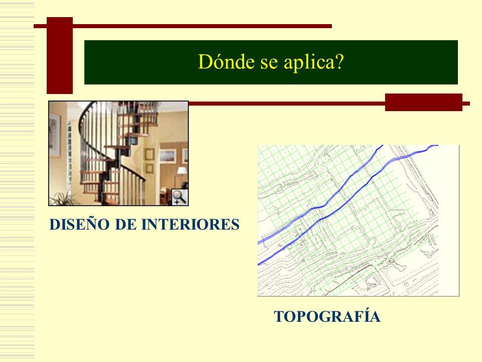 Dónde se aplica DISEÑO DE INTERIORES TOPOGRAFÍA