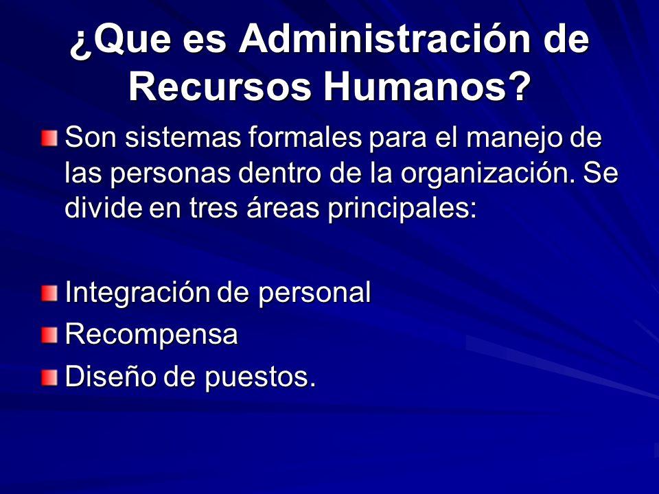 ¿Que es Administración de Recursos Humanos