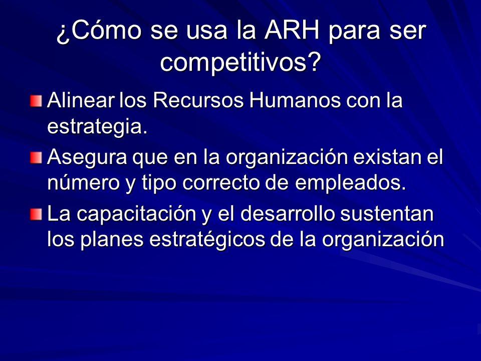 ¿Cómo se usa la ARH para ser competitivos