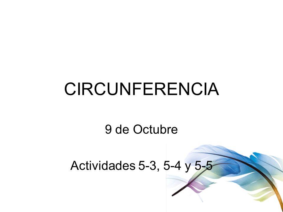 9 de Octubre Actividades 5-3, 5-4 y 5-5