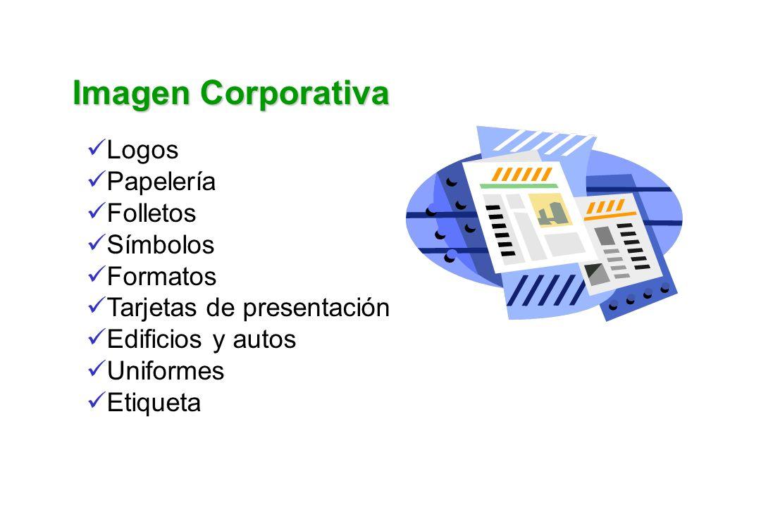 Imagen Corporativa Logos Papelería Folletos Símbolos Formatos