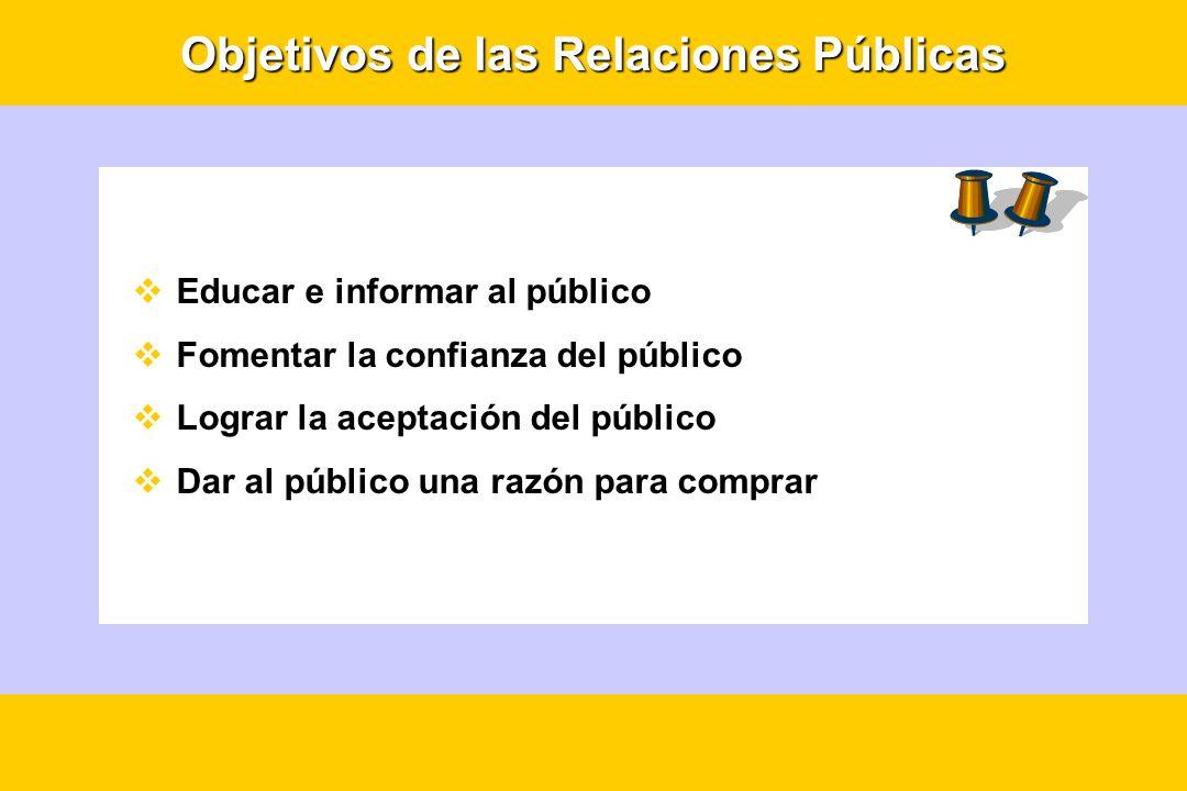 Objetivos de las Relaciones Públicas