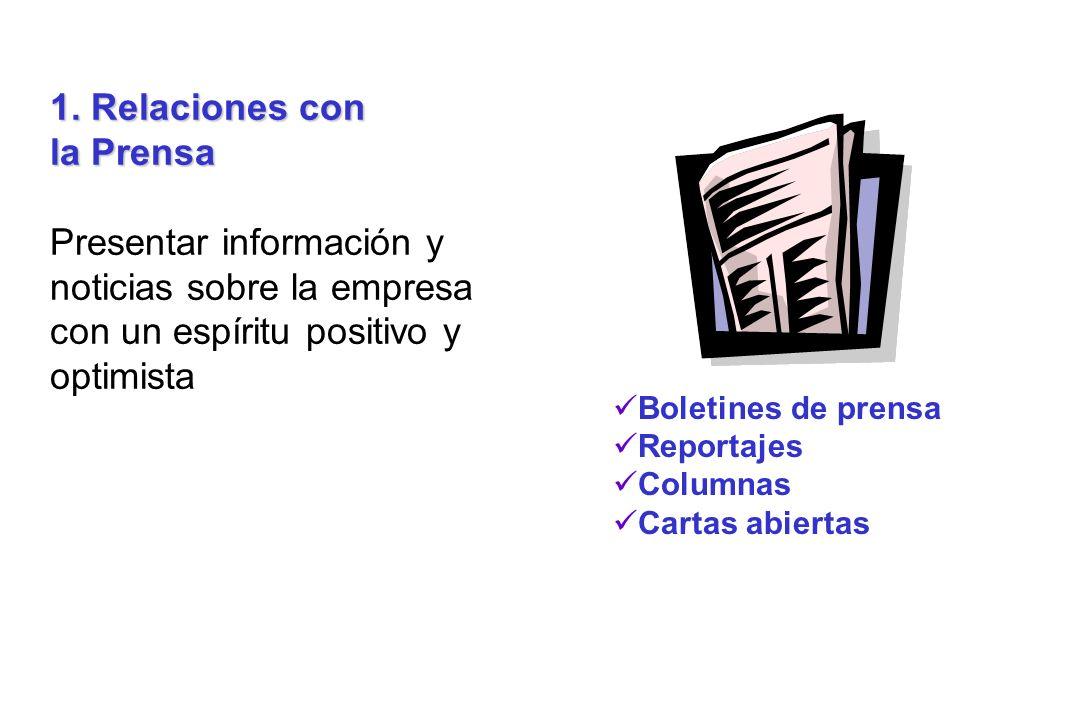 1. Relaciones con la Prensa