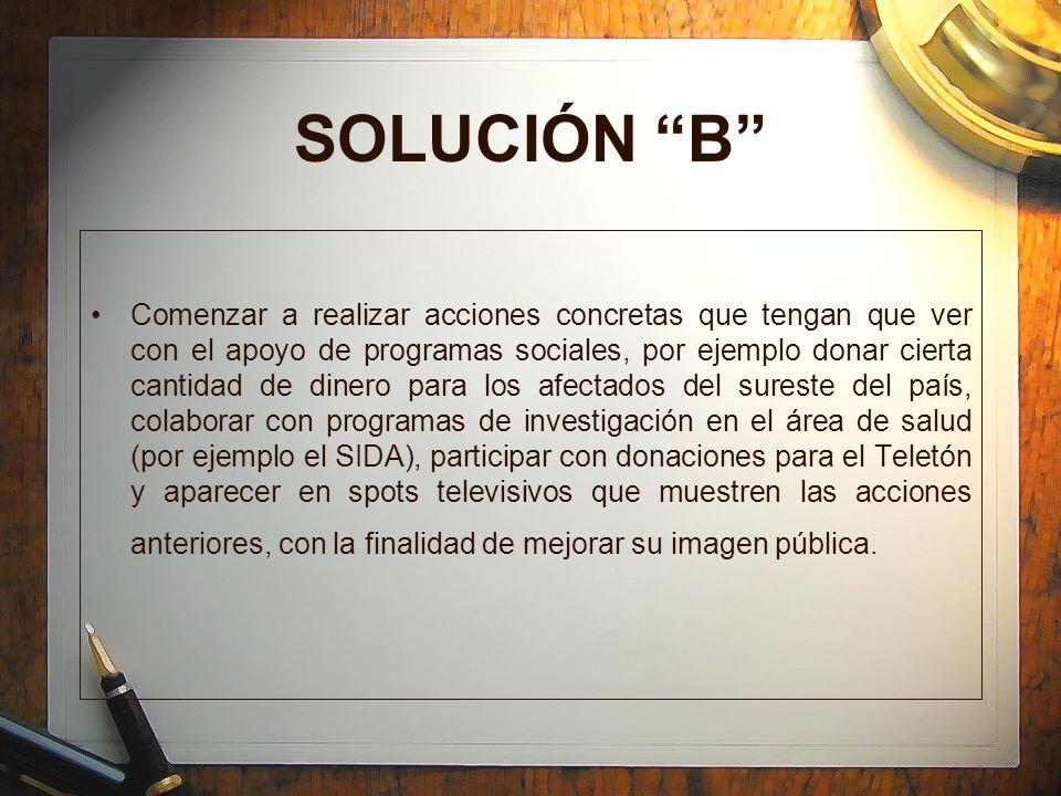 SOLUCIÓN B