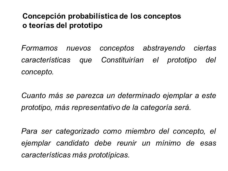 Concepción probabilística de los conceptos