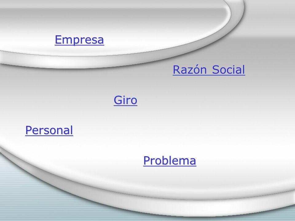 Empresa Razón Social Giro Personal Problema
