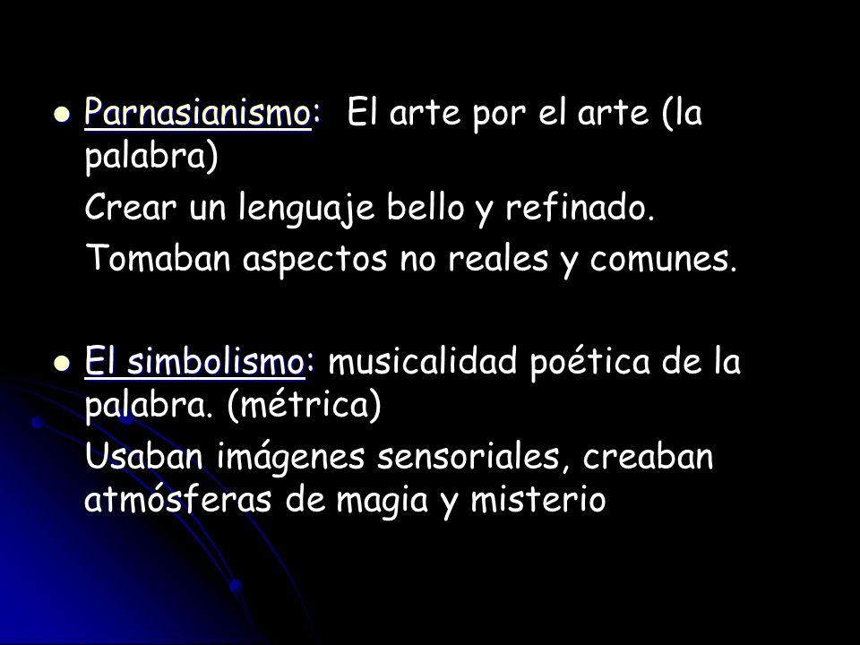 Parnasianismo: El arte por el arte (la palabra)