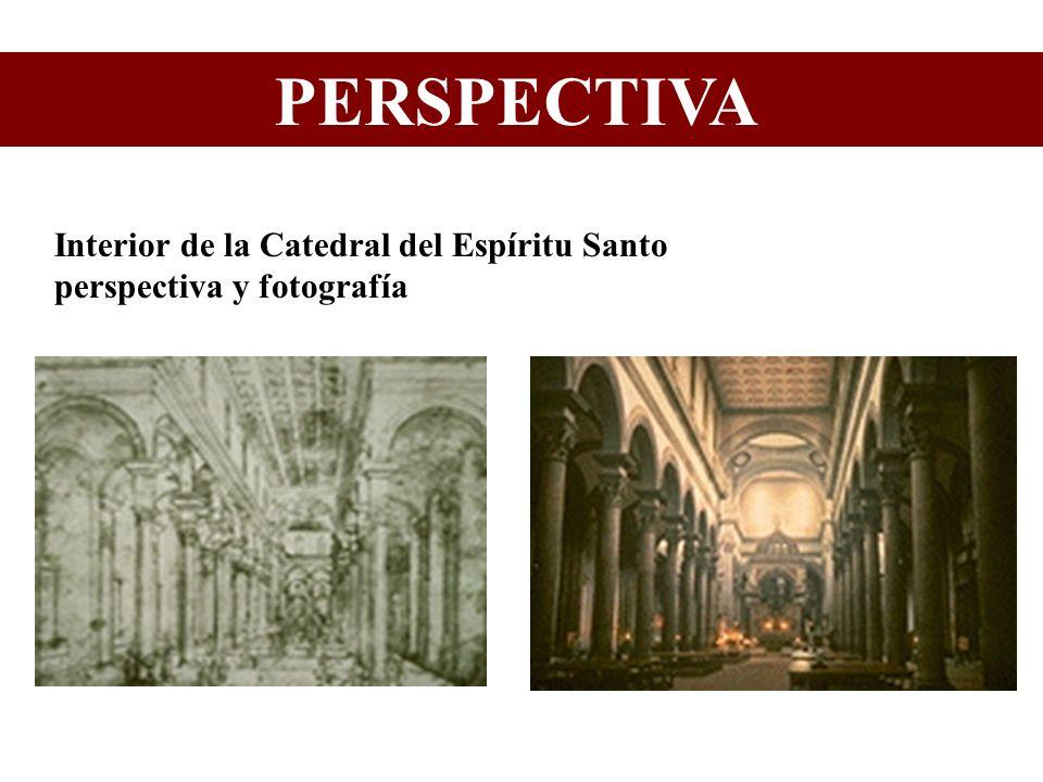 PERSPECTIVA Interior de la Catedral del Espíritu Santo perspectiva y fotografía