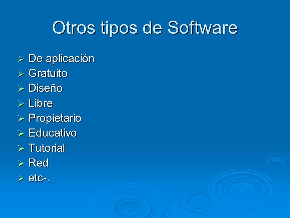 Otros tipos de Software