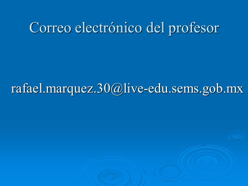 Correo electrónico del profesor
