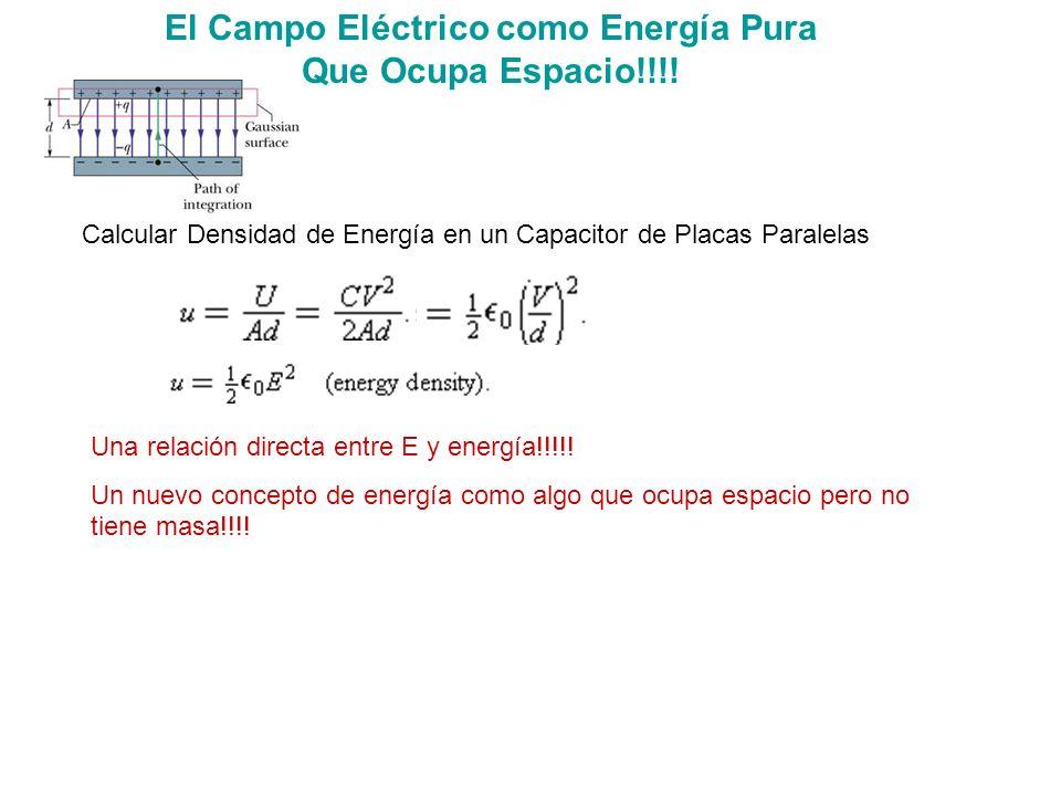 El Campo Eléctrico como Energía Pura Que Ocupa Espacio!!!!