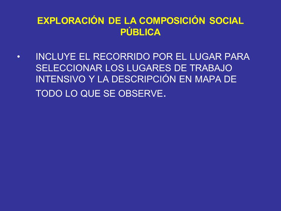 EXPLORACIÓN DE LA COMPOSICIÓN SOCIAL PÚBLICA