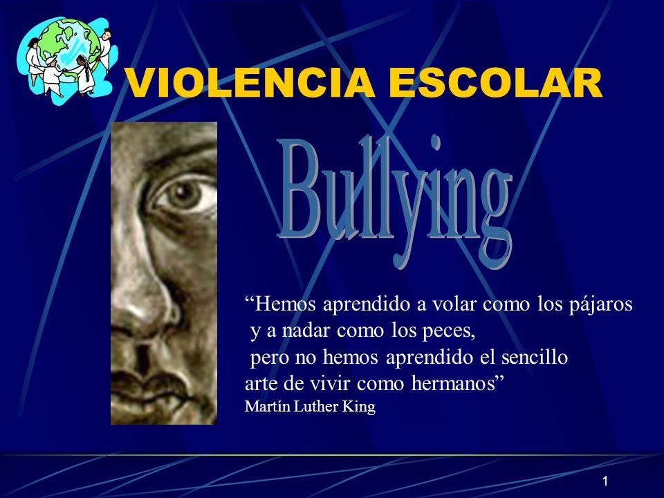 VIOLENCIA ESCOLAR Bullying Hemos aprendido a volar como los pájaros
