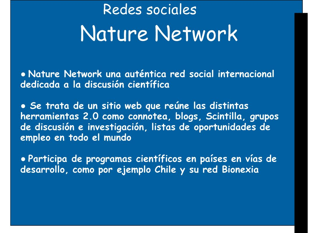 Nature Network Redes sociales