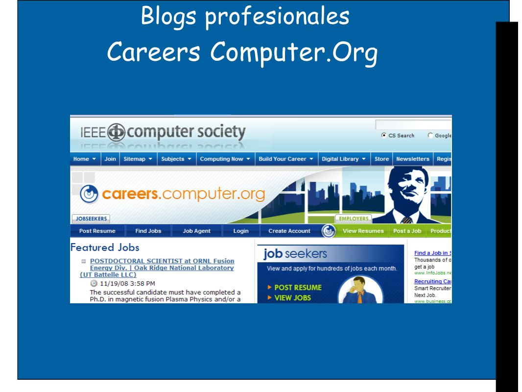 Blogs profesionales Careers Computer.Org